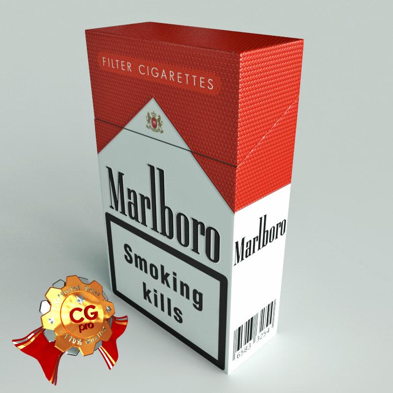 3ds max pack marlboro cigarettes