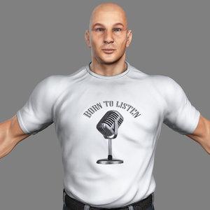 3d muscular male
