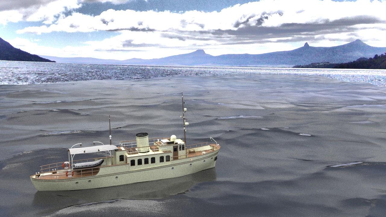 classic yacht 3d blend