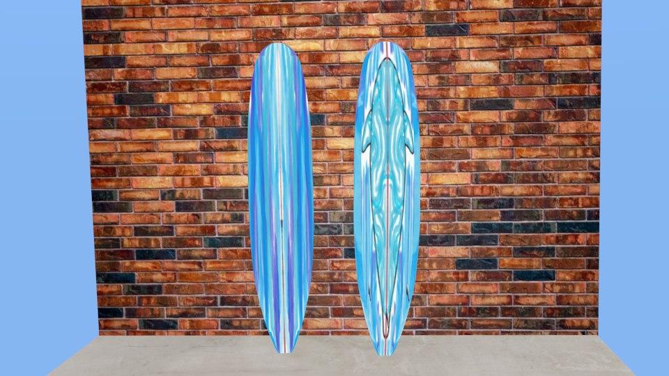 3ds longboard shark blue