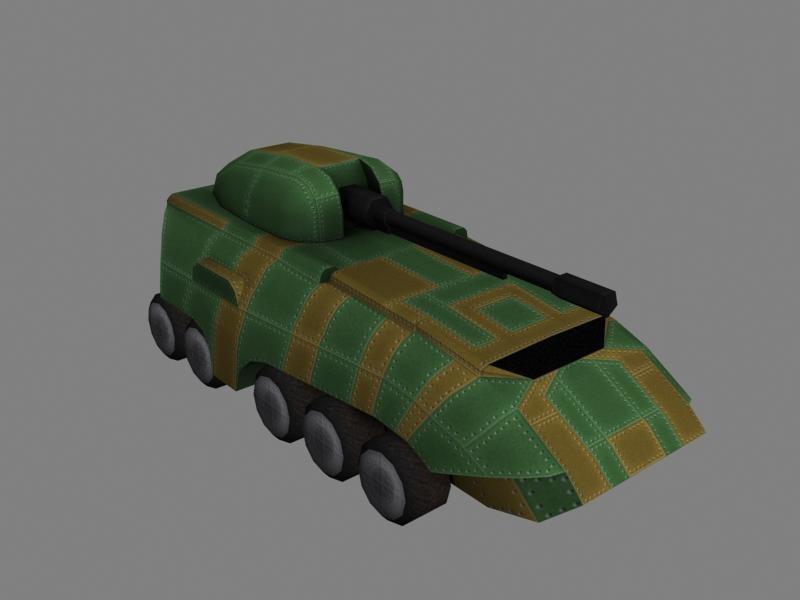 scifi artillery obj