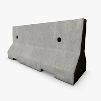 3d new road barrier model