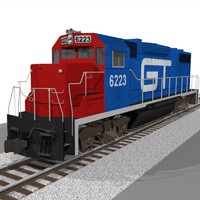 GT Train Engine: EMD GP38: C4D Model