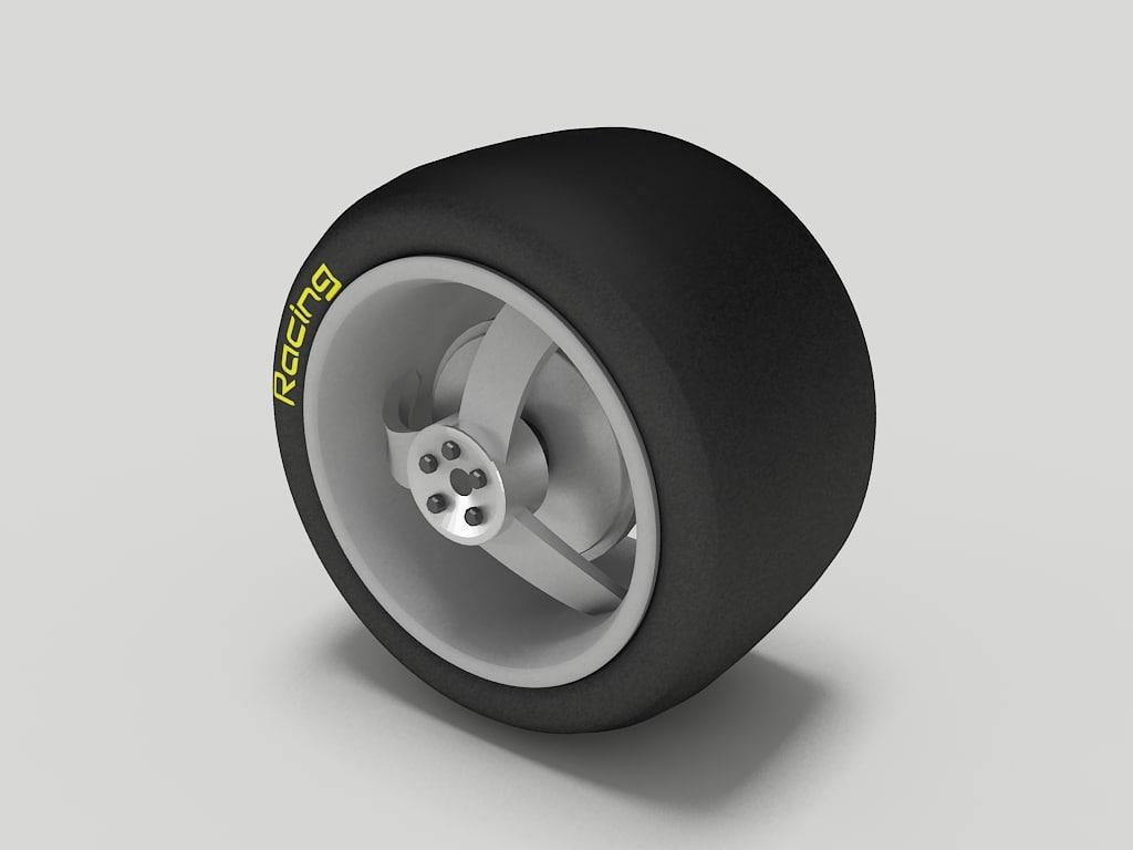 wheel tyre 2 3d 3ds