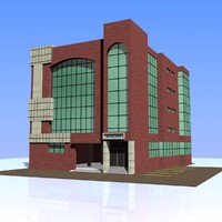 3dsmax bank building