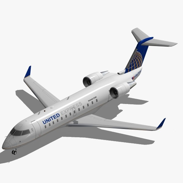 bombardier crj-200 united express 3d 3ds