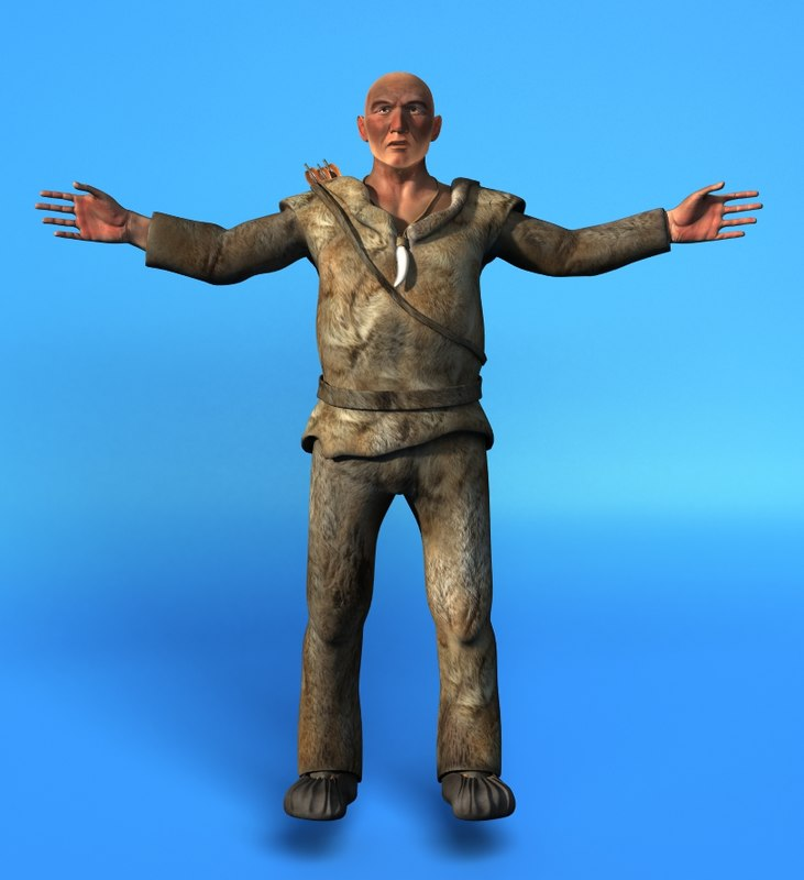 3d model cro-magnon men