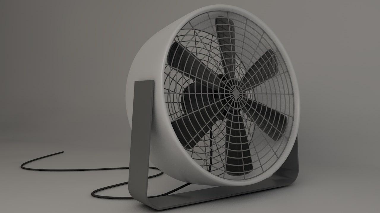 3d old school fan