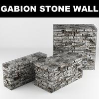gabion stone wall 3d max