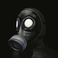 man gas mask obj