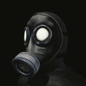 man gas mask obj
