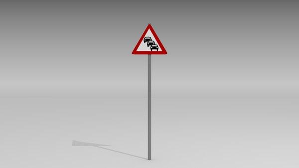 3d model heavy traffic sign