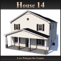Low Polygon House 14