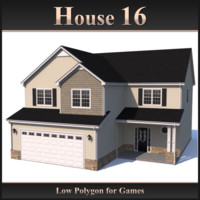 Low Polygon House 16