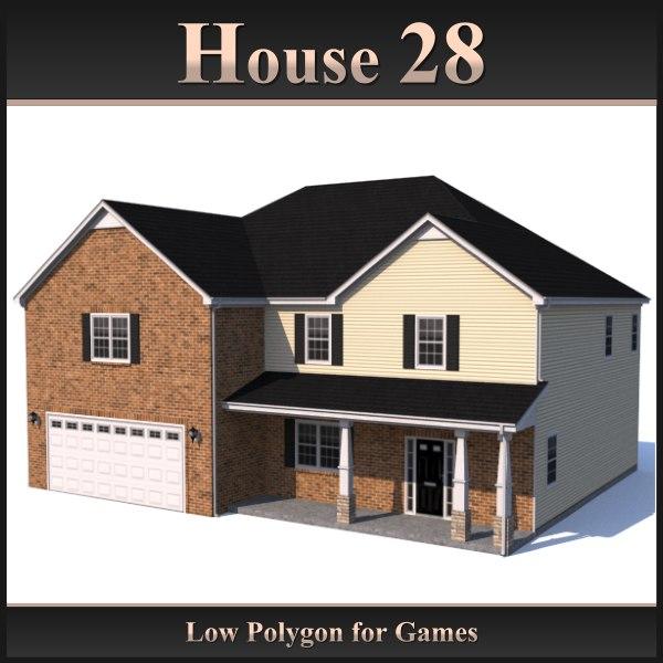 house 28 3d obj