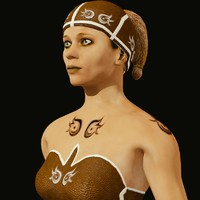 3d jungle woman model