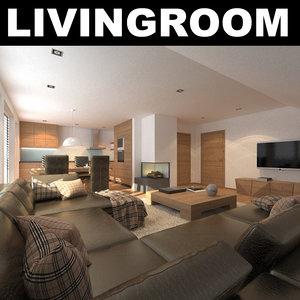 rug sofa realistic 3d max