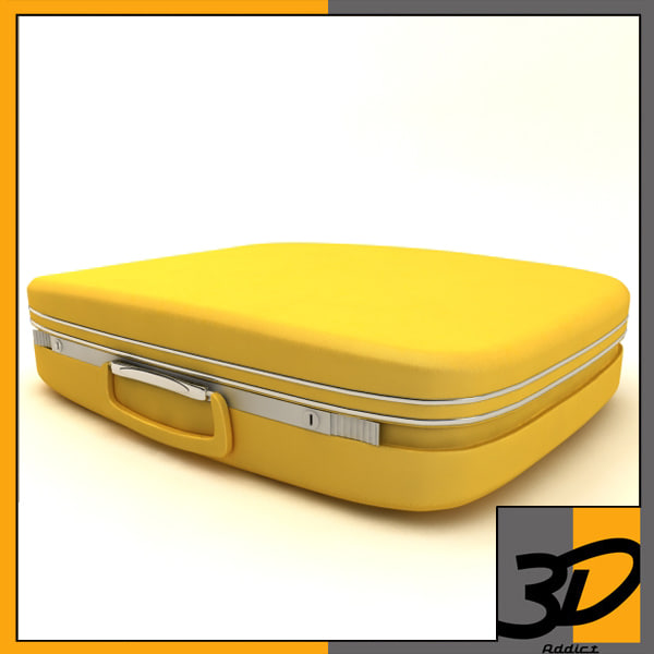 samsonite suitcase 3d c4d