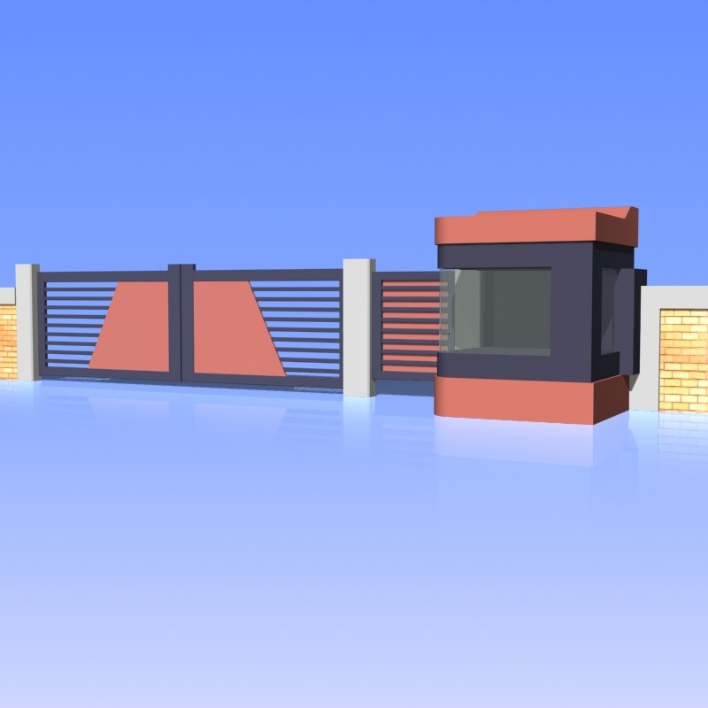 fence gate 3d max