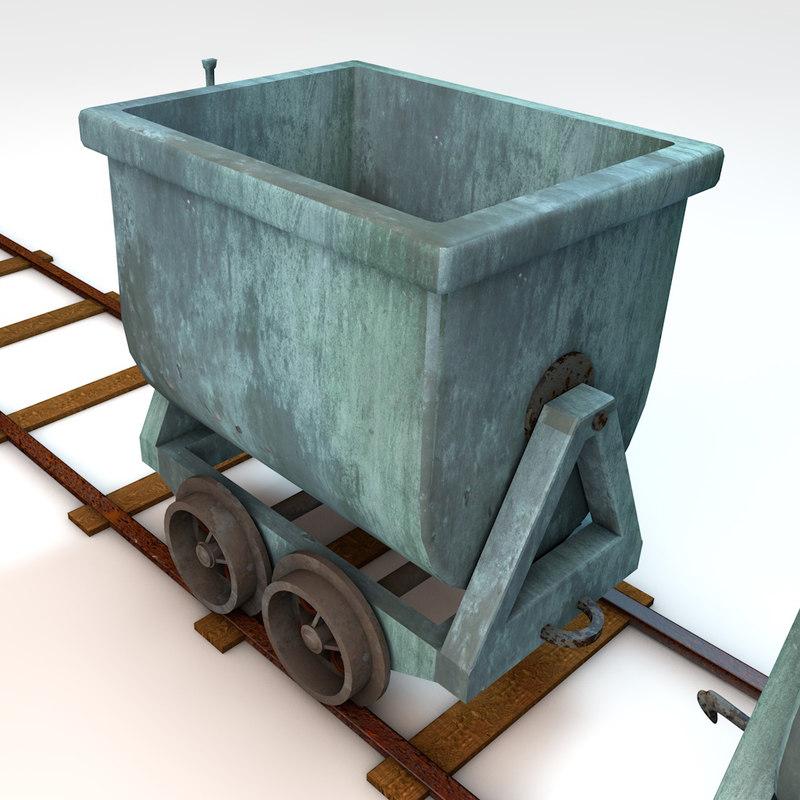 cart mining 3d obj