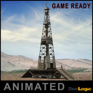 oil tower 3d 3ds
