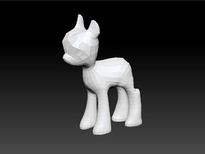 3d mlp base pony