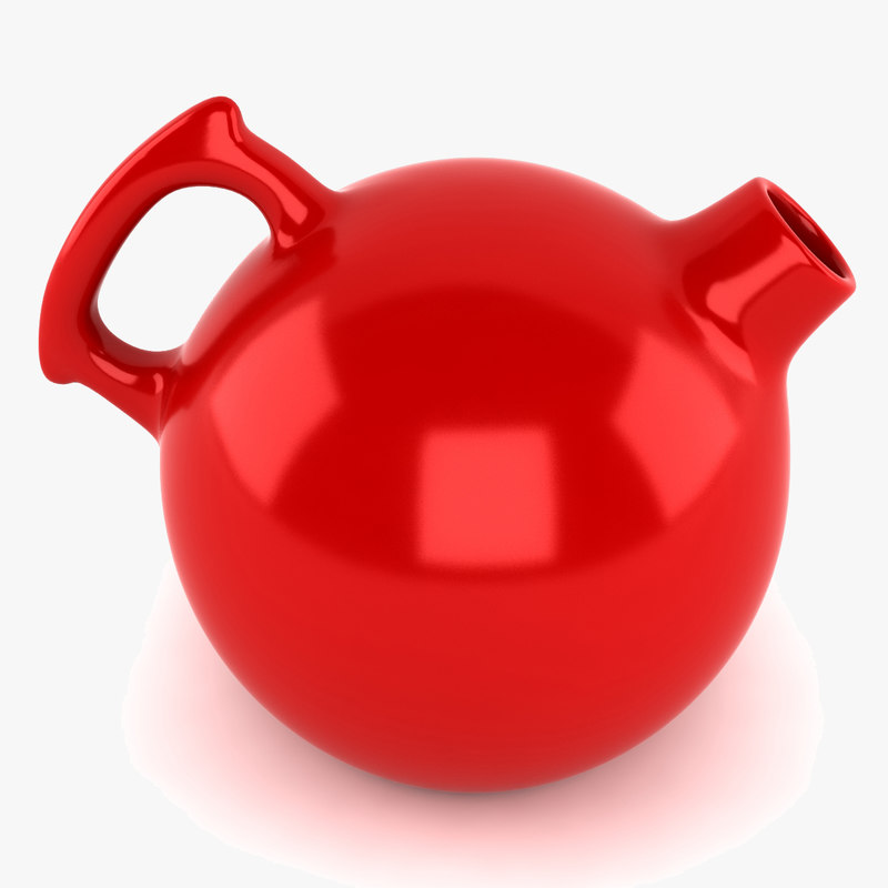 3d porcelain pitcher model