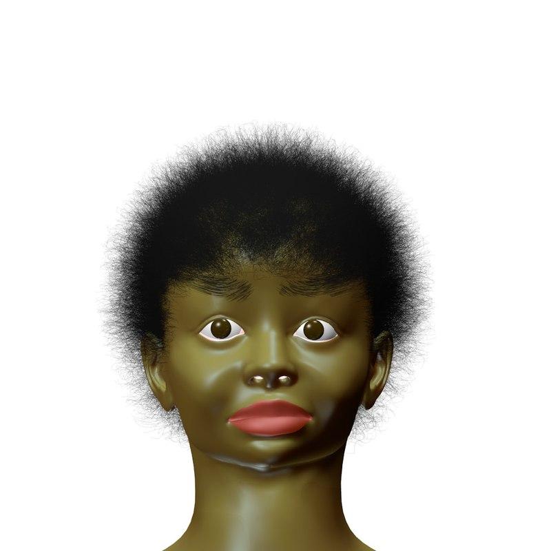 3d model woman girl lady