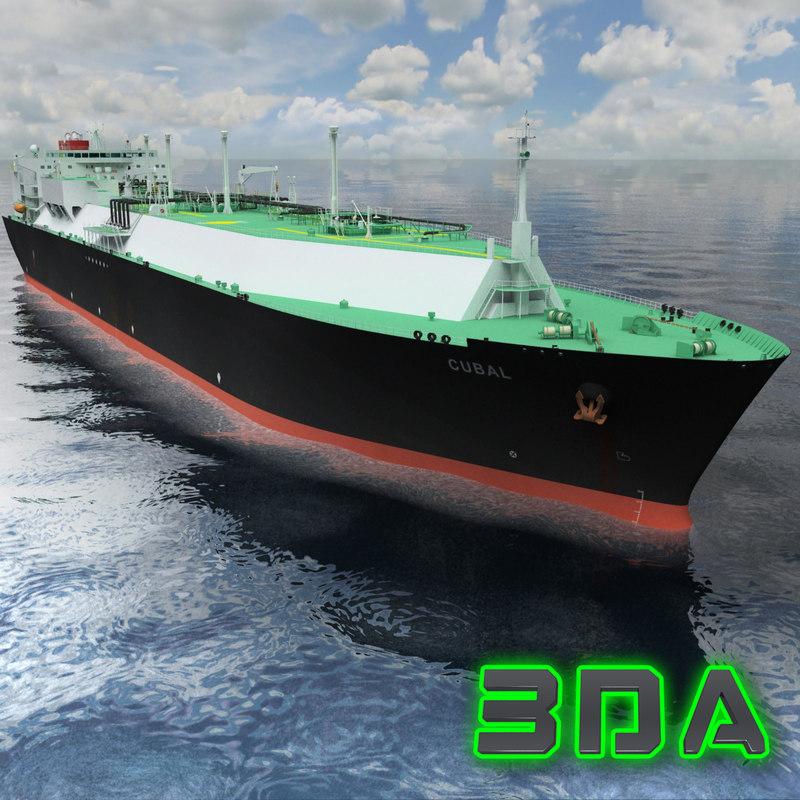 lng tanker ship mitsui 3d max