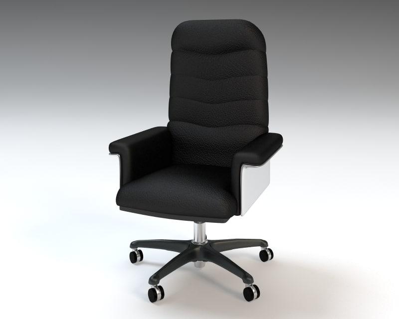 3d executive office armchair chair