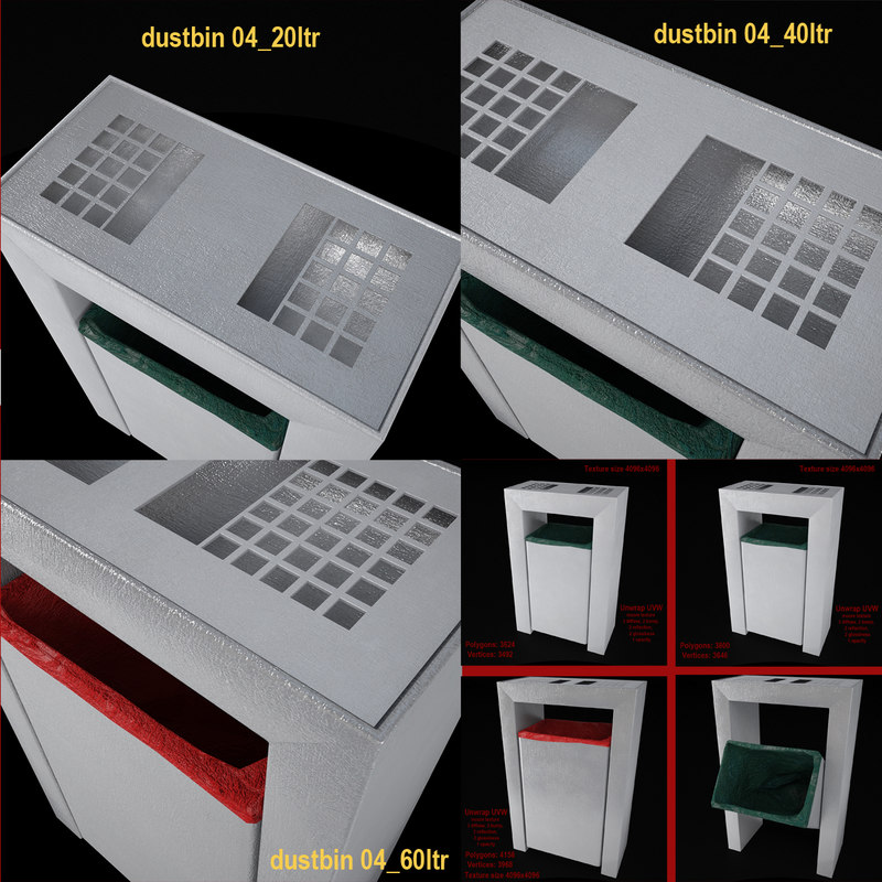 dustbin 04 20 40 3ds
