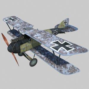 3ds german fighter albatros d3