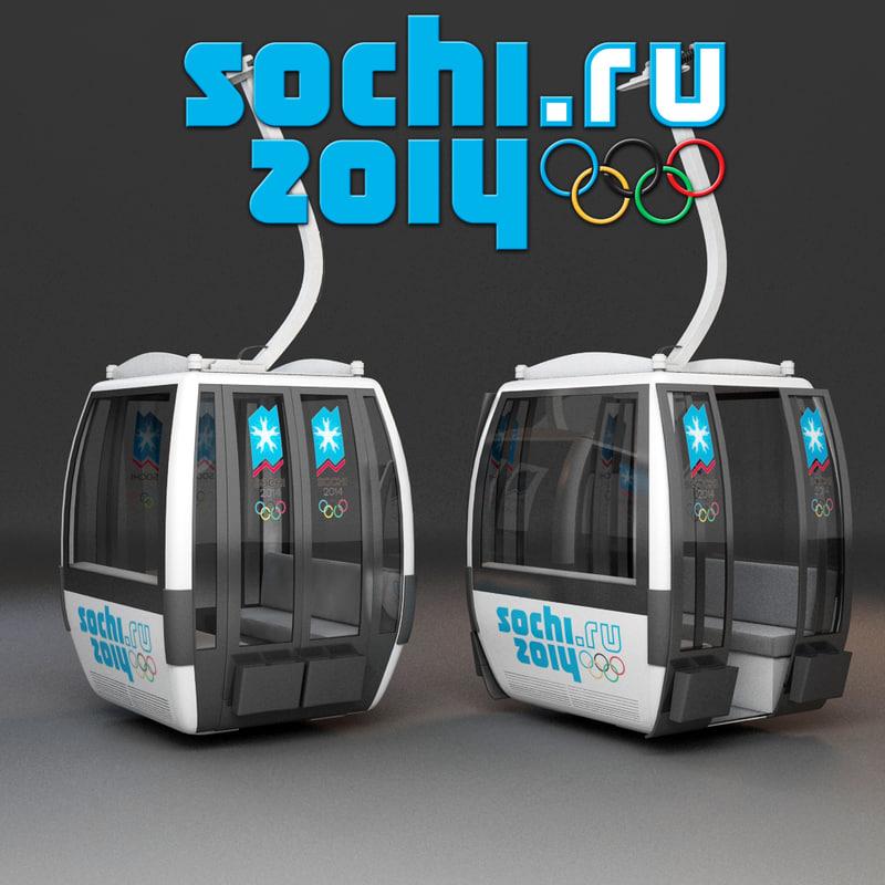 cableway car sochi 3d max