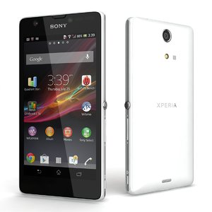 sony xperia zr white 3d 3ds