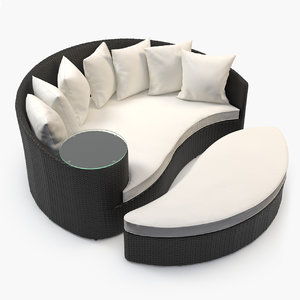 3ds max furniture synthetic rattan