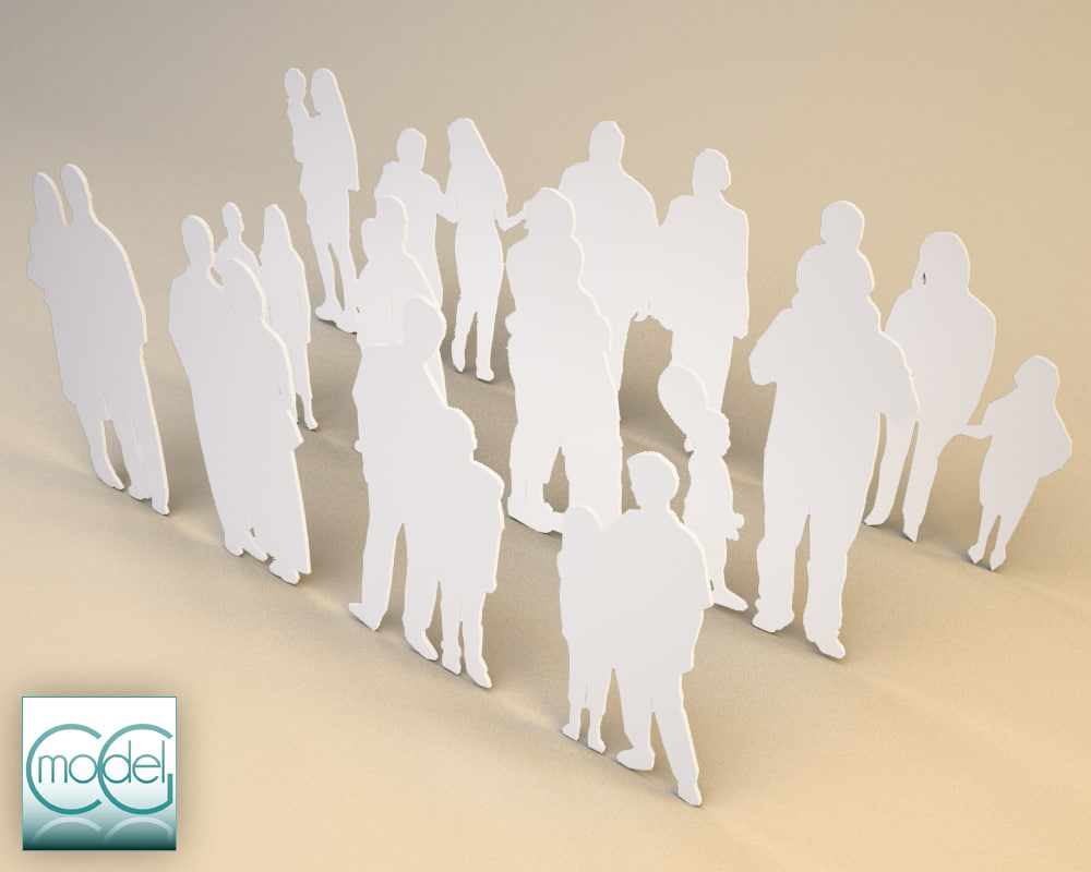 silhouette people 3ds