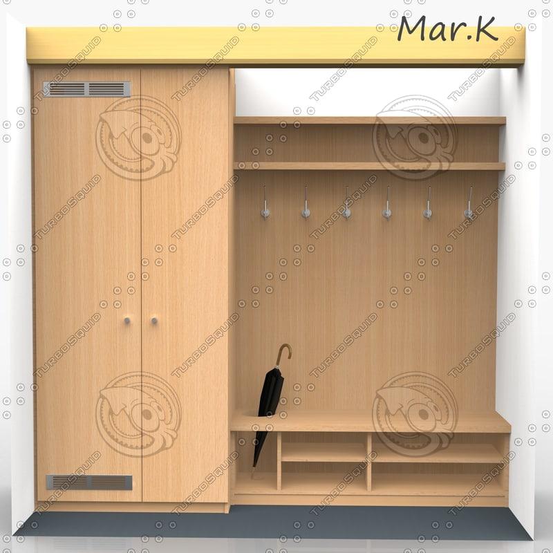 vestibule hatrack 3d model