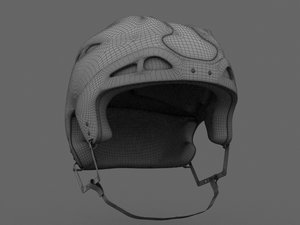 hockey helmet 3d model