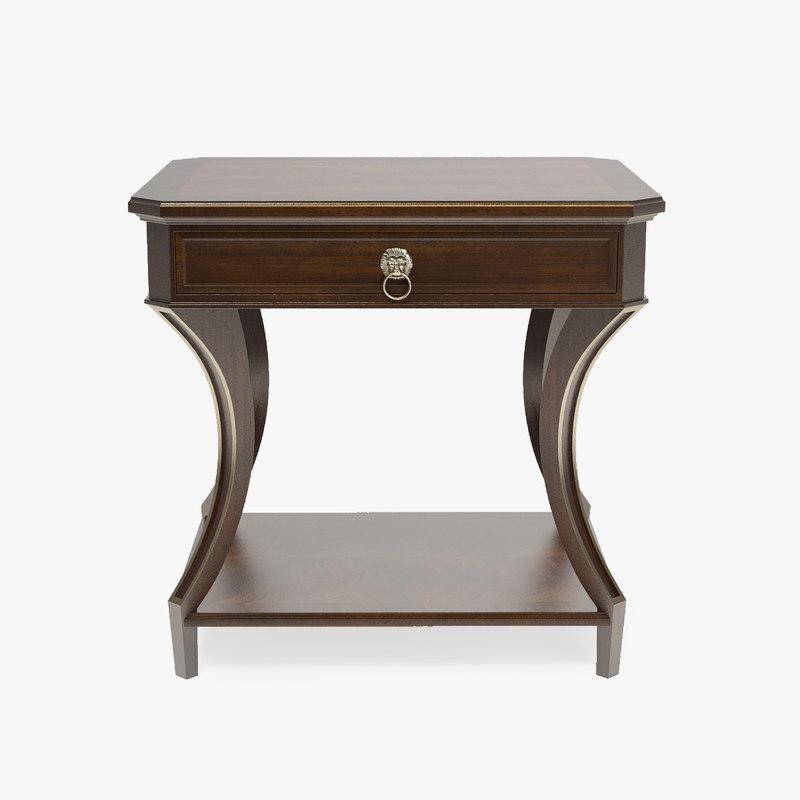 3d baker lamp table model