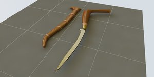 free 3ds model traditional dagger weapon