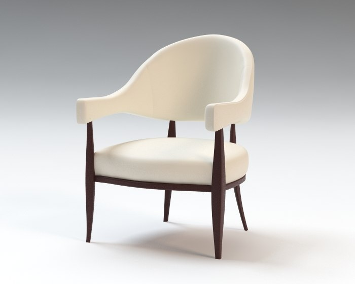 morrow occasional armchair chair 3d 3ds