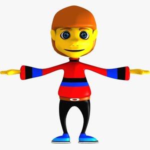 3dsmax cartoon boy character