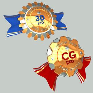 3d seals award model
