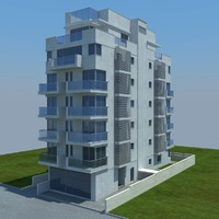 3d buildings 9 model