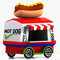 Cartoon Hot Dog Cart