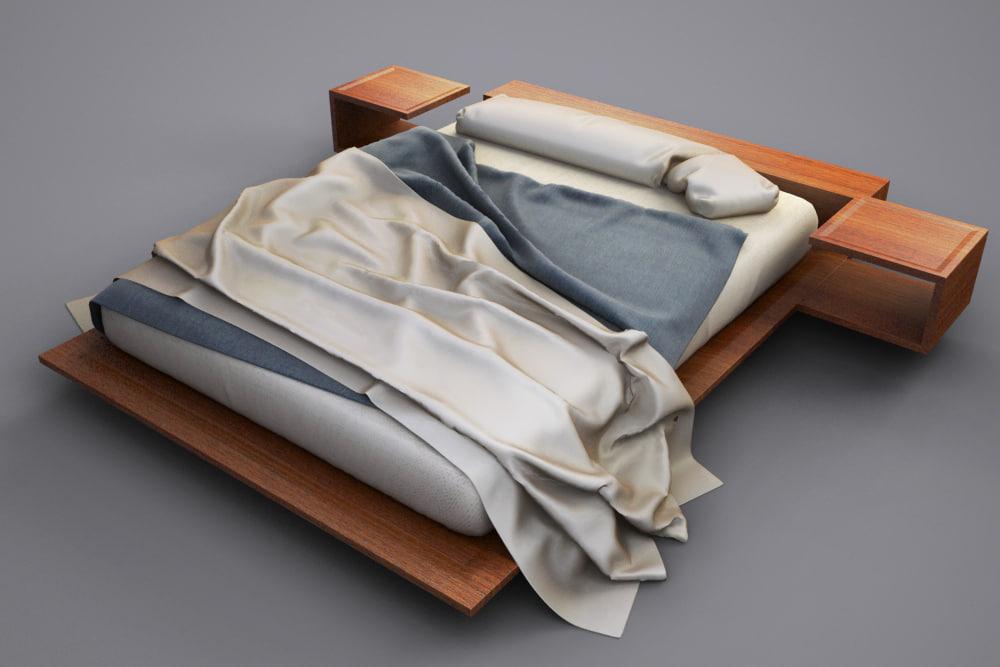 3dsmax modern bed