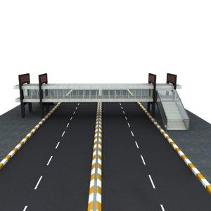 3d model footbridge bridge