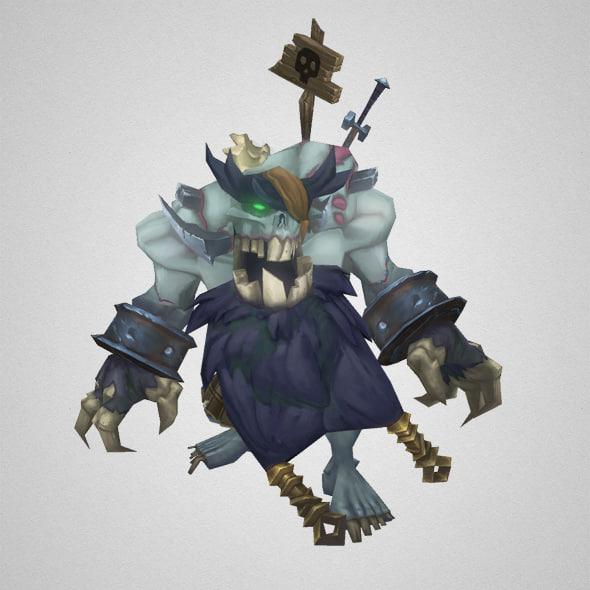 3d model boss zombie