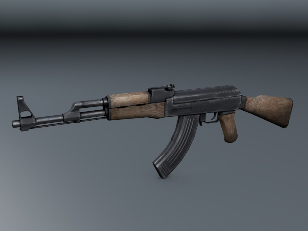 3d weapon ak-47 model