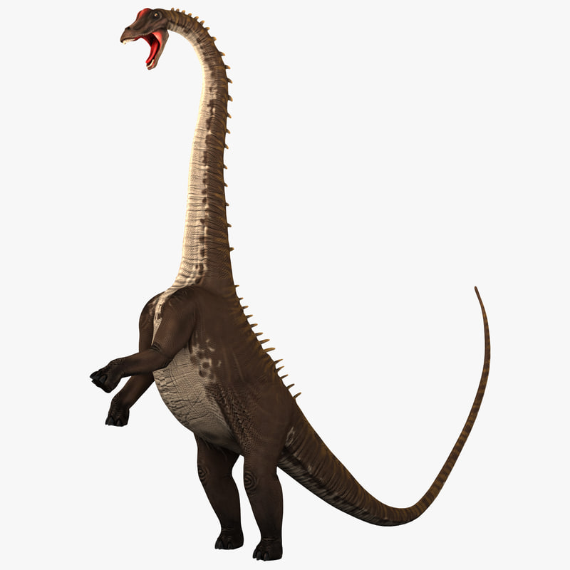 3d model diplodocus pose 2